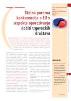 prikaz prve stranice dokumenta Štetna porezna konkurencija u EU s aspekta oporezivanja dobiti trgovačkih društava